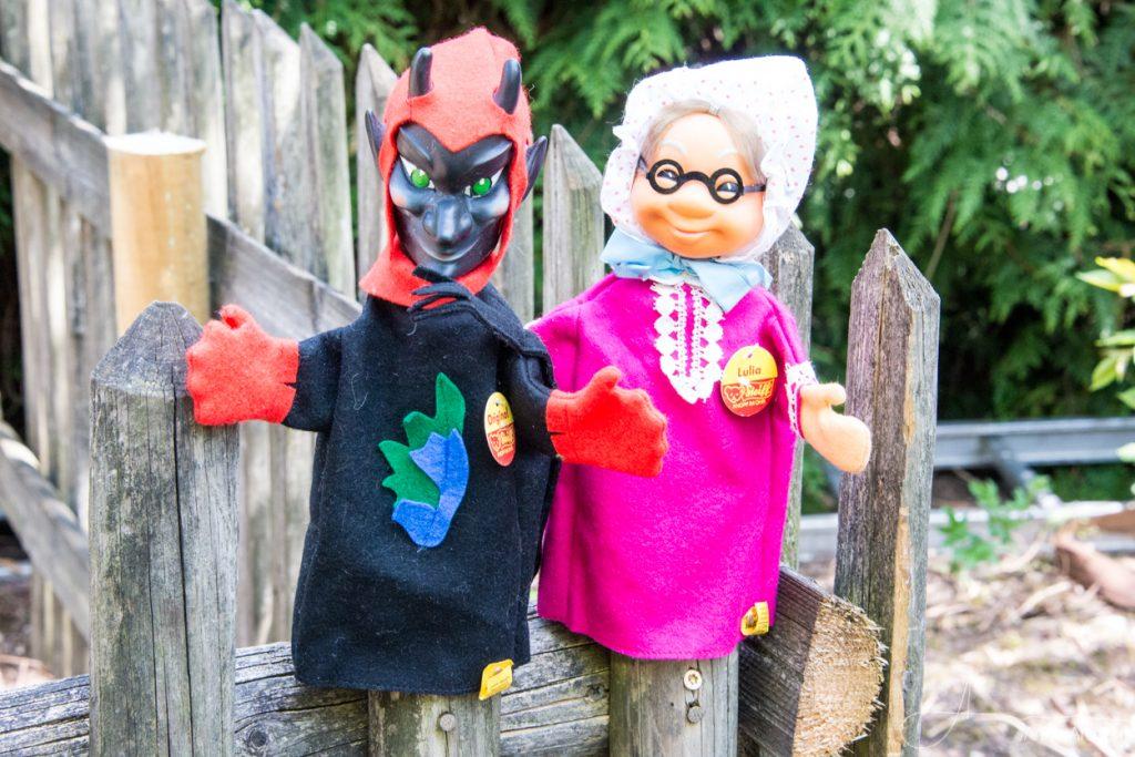 Steiff Handpuppen Teufel und Großmutter